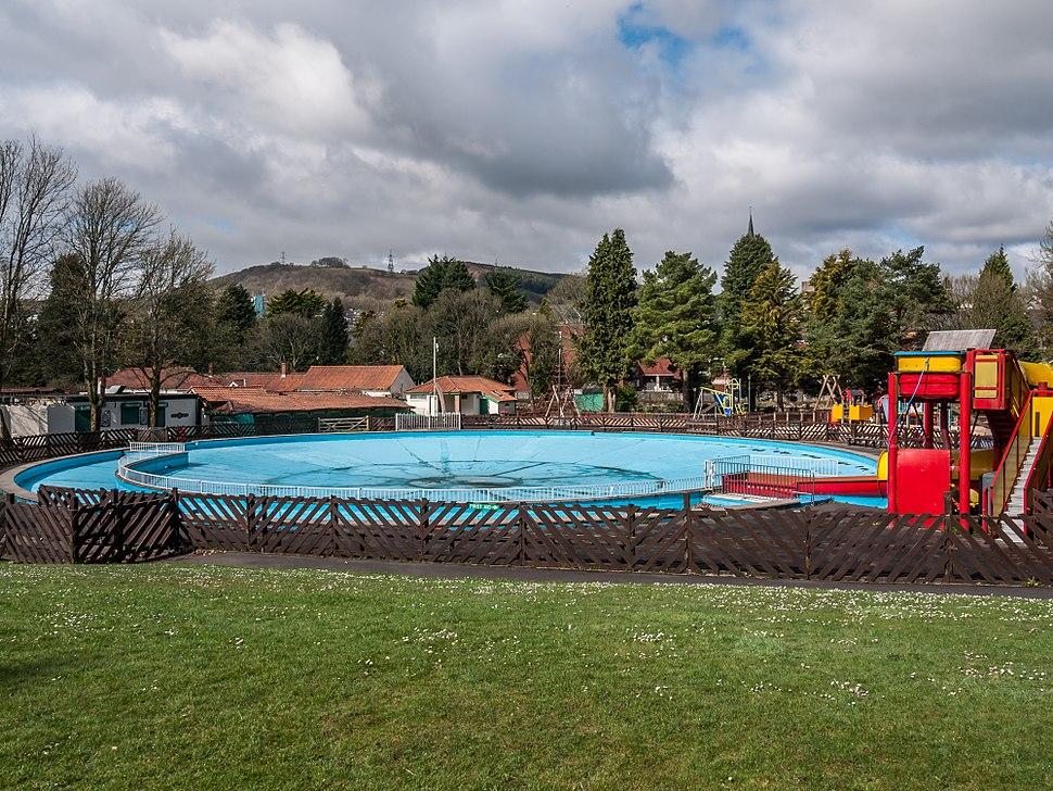 Paddling pool, Ynysangharad Park, Pontypridd