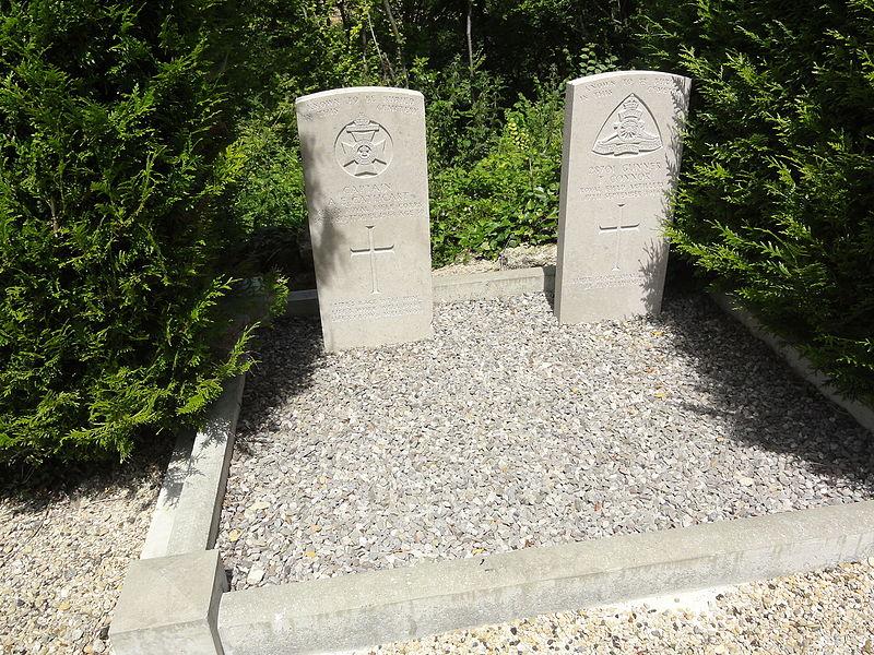 Paissy (Aisne) tombes de guerre CWGC 1914