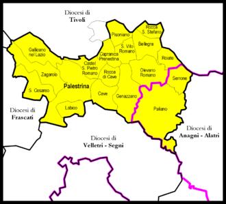 Roman Catholic Suburbicarian Diocese of Palestrina - Image: Palestrina diocesi