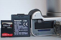 Panasonic Lumix DMC-FZ20 BatteryCompartment MemoryCardSlot.JPG
