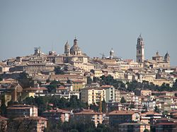 A view of the historical center of Macerata