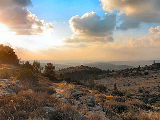Judaean Mountains - View from Beit Meir in the Judaean Mountains