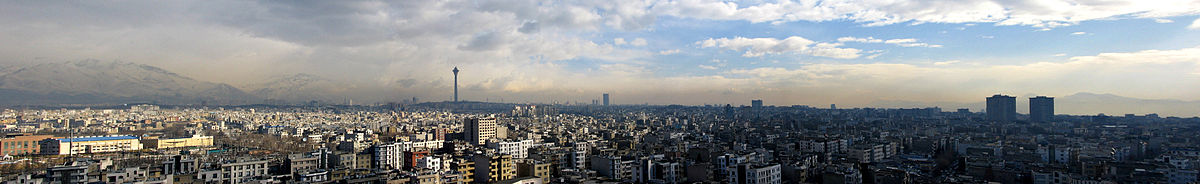 Panoramic view from Tehran.
