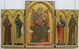 Madonna and Child, Saints Francis, John the Baptist, John the Evangelist and Anthony of Padua