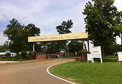 Entrance to the Mississippi State Penitentiary