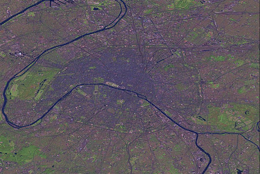 Paris city Landsat