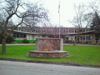 Parkside High School (Dundas, Ontario) - The Front of the School