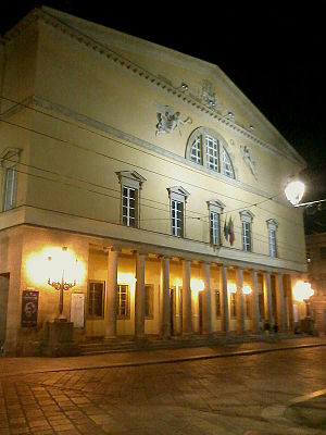 Teatro Regio (Parma) - Exterior of the Teatro Regio in Parma, July 2014