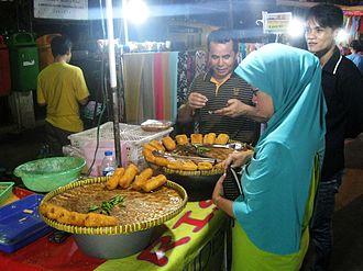 Rissole - Vendor selling rissoles at the pasar malam (night market) in Rawasari, Jakarta