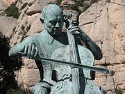 A centenary statue at Montserrat.