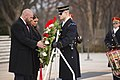 "Paul ""Triple H"" Levesque and WWE Chief Brand Officer Stephanie McMahon place a wreath at the Tomb of the Unknown Soldier in Arlington National Cemetery (30813214823).jpg"