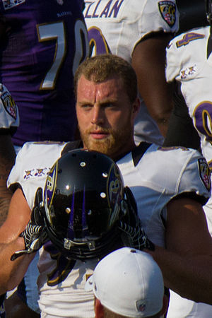 Paul Kruger (American football) - Kruger at Ravens M&T Bank Stadium practice in August, 2012.