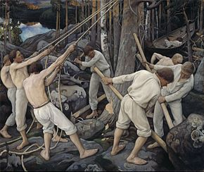 Pekka Halonen - Pioneers in Karelia - Google Art Project.jpg