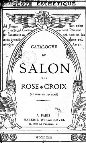 Le Fils des étoiles - Catalogue of the first Salon de la Rose + Croix (1892)