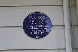 François Guizot - Blue plaque, 21 Pelham Crescent, London SW7