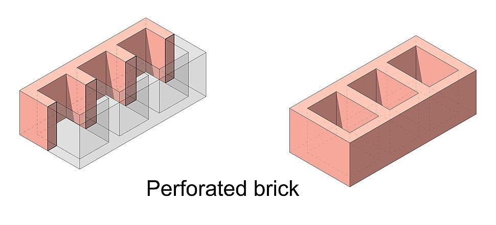 Perforated brick 2