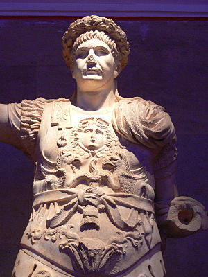 Trajan - Trajan wearing the civic crown and military garb such as a muscle cuirass, 2nd century AD, Antalya Archaeological Museum