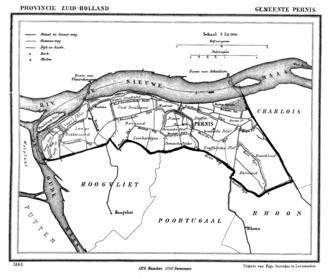 Pernis, Netherlands - Pernis in 1865.