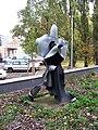 Petřiny, plastika před hasičskou stanicí (03).jpg