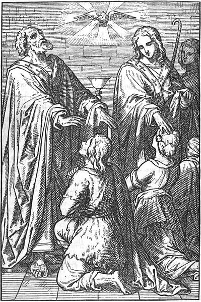 File:Peter and John laying their hands on the disciples.jpg