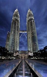 Petronas Towers Twin skyscrapers in Kuala Lumpur, Malaysia