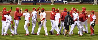 2009 Philadelphia Phillies season - Image: Phillies NLCS 2009