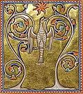 Aberdeen Bestiary phoenix painting