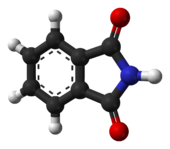 ball-and-stick model of the phthalimide molecule