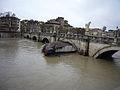 Piena del Tevere - Tiber in flood - Ponte Sant'Angelo - Rome, Italy - 12 Dec. 2008.jpg