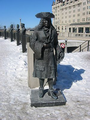 Pierre LeMoyne d'Iberville statue, Valiants Me...