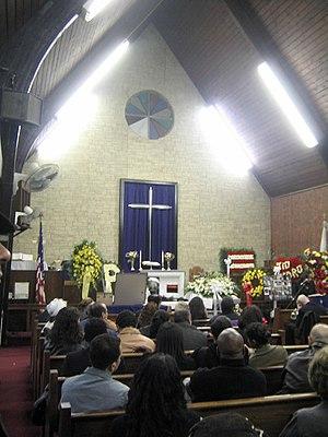 Pedro Pietri - Funeral held at historic First Spanish Methodist Church of East Harlem