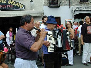 Piffero - Ettore Losini playing the piffero in Bobbio, near Piacenza, Emilia-Romagna, Italy