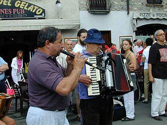 Piffero - Ettore Losini playing the piffero in Bobbio, near Piacenza, Emilia-Romagna, Italy