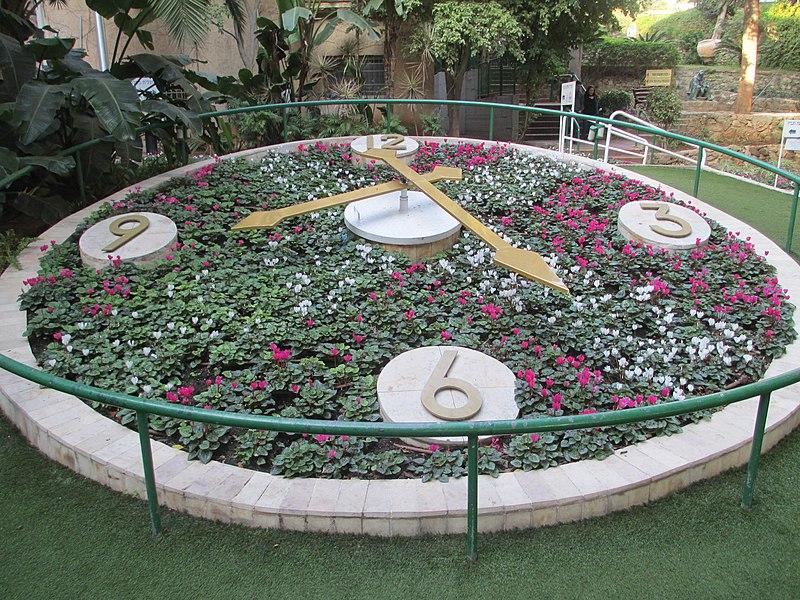 שעון הפרחים בחצר עיריית רמת גן