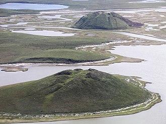 Tuktoyaktuk - Ice hills near Tuktoyaktuk, Northwest Territories.