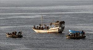 Action of 11 November 2008 - Pirates surrendering after engaging Royal Marines