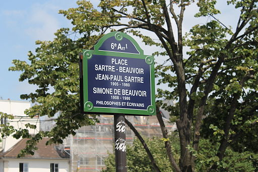 Place Jean-Paul-Sartre-Simone-de-Beauvoir, Paris 12 July 2014