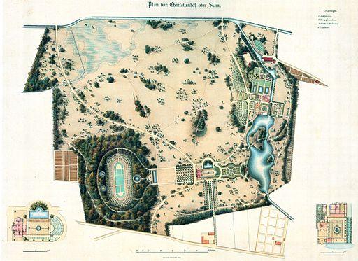 Plan Charlottenhof Gerhard Koerber nach Lenne 1839