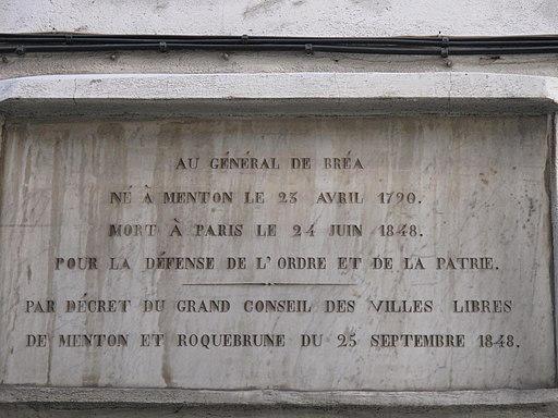 Plaque Général Bréa