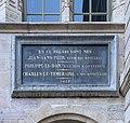 Plaque Palais des Ducs de Bourgogne à Dijon comme lieu de naissance de Jean sans Peur, Philippe le Bon et Charles le Téméraire.jpg
