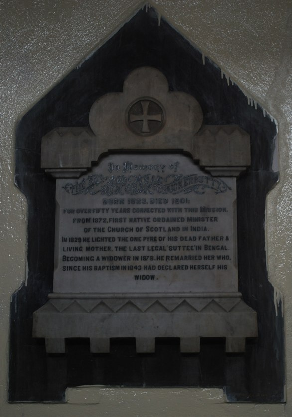 Plaque of Bipro Charan Chuokurbutty at Scottish Church College.jpg