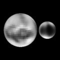 Pluto & Charon (Sub-earth 10 degrees latitude, 10 degrees longitude).png