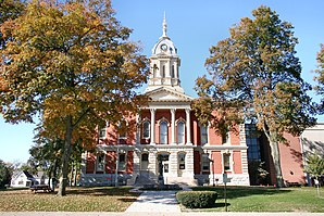 Marshall County Courthouse in Plymouth, gelistet im NRHP Nr. 83000139[1]