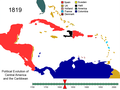 Political Evolution of Central America and the Caribbean 1819.png