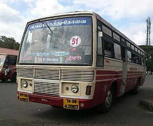 Pollachi - A city bus in Pollachi