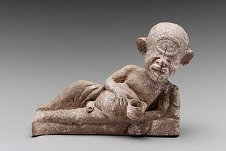Polyphemos reclining and holding a drinking bowl