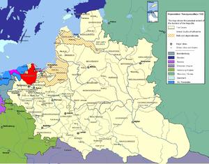 Pomeranian Voivodeship (1466–1772) - Pomeranian (Pomorze) Voivodeship within the Polish-Lithuanian Commonwealth in 1635