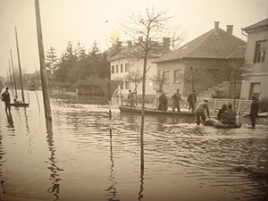 Trnava (Međimurje) - March 1963 flooding of Čakovec