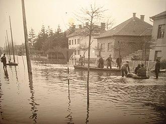 Trnava (Međimurje) - March 1963 flooding of Čakovec