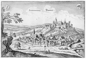 Porrentruy - This view of Porrentruy dates from the 17th century.